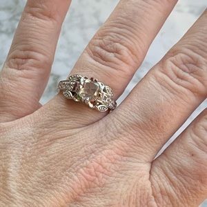 Stunning 2.75 tcw mossanite sterling silver NWOT